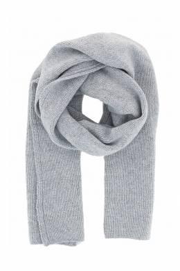 Светло-серый шарф с рельефной окантовкой Fedeli 680152205
