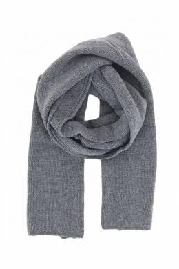 Серый шарф с рельефной окантовкой Fedeli 680152207