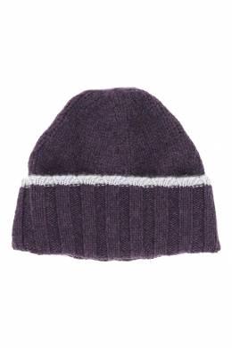 Фиолетовая шапка-бини с отворотом Fedeli 680152203