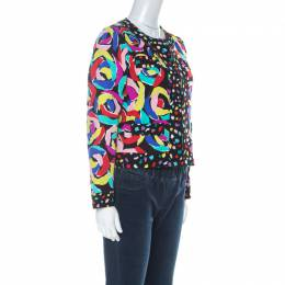 Boutique Moschino Multicolour Abstract Print Boxy Jacket S 225482