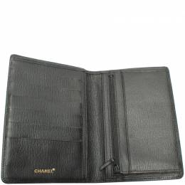 Chanel Black Leather Card Case 220496