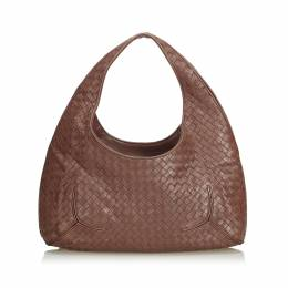 Bottega Veneta Brown Intrecciato Leather Hobo Bag 199016