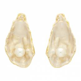 Burberry Gold Oyster Earrings 192376F02200201GB
