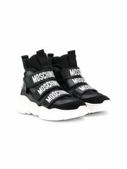 Moschino Kids высокие кроссовки с логотипом 61821