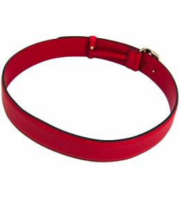 Gucci Red/Gold Leather Guccissima Belt 80CM 225576