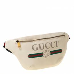 Gucci White Leather Belt Bag 223946
