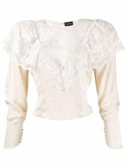 Magda Butrym блузка с кружевом 6239192207