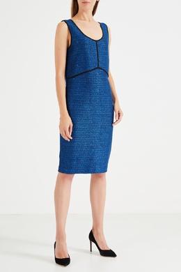 Синее платье на широких бретелях St. John 165597166