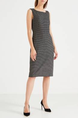 Серое платье-сарафан St. John 1655149943