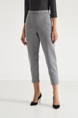 Зауженные серые брюки St. John 1655149914