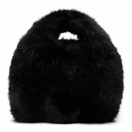 Comme Des Garcons Girl Black Faux-Fur Bag 192670F04900101GB