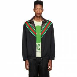 Gucci Black Zip-Up GG Star Sweater 192451M20201307GB