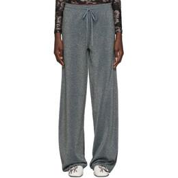 Lanvin Blue Lurex Lounge Pants 192254F08600104GB