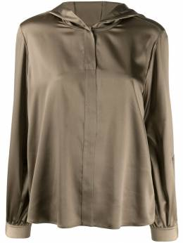 Luisa Cerano блузка на пуговицах с капюшоном 2081162338