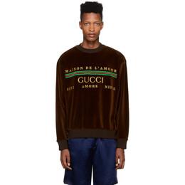 Gucci Brown Chenille Maison De Lamour Sweatshirt 192451M20401003GB