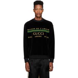 Gucci Black Chenille Maison De Lamour Sweatshirt 192451M20400904GB