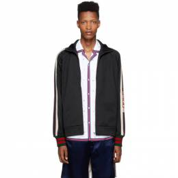 Gucci Black Jersey Logo Track Jacket 192451M20203407GB