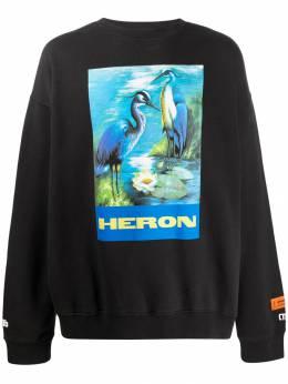 Heron Preston толстовка с графичным принтом HMBA003F198080010488