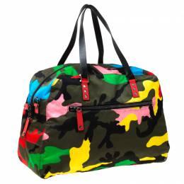 Valentino Multicolor Nylon Large Rockstud Holdall Duffle Bag 225638