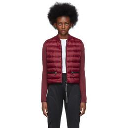 Moncler Red Down Knit Jacket E20939457100A9106