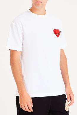 Белая футболка с рисунком Palm Angels 1864152606