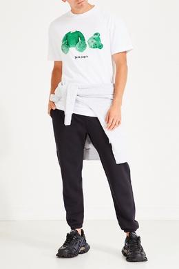 Белая футболка с зеленым принтом Palm Angels 1864152615
