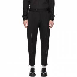 Isabel Benenato Black Virgin Wool Heavyweight Trousers 192732M19100103GB