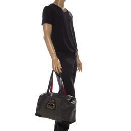 Christian Louboutin Grey Nubuck and Leather Bagdamon Duffle Bag