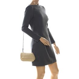 Bottega Veneta Beige Intrecciato Leather Crossbody Bag 225058