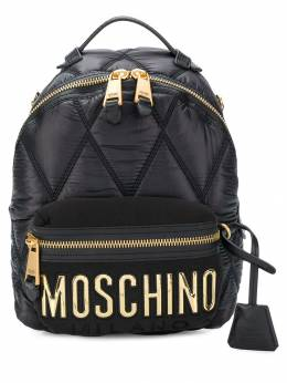Moschino quilted logo backpack B76058207