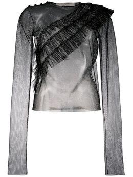 Philosophy Di Lorenzo Serafini полупрозрачная блузка с оборками A02087138