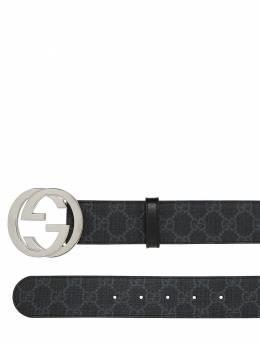 Кожаный Ремень Gg Supreme 40mm Gucci 70IXQC010-ODQ0OQ2