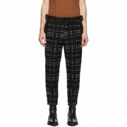 Ann Demeulemeester Black and Off-White Bette Trousers 1902-3404-198-099