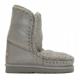 Mou Grey 24 Mid-Calf Boots 192326F11401002GB
