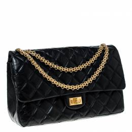 Chanel Black Quilted Leather Reissue 2.55 Classic 226 Flap Bag 226588