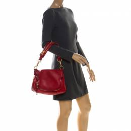 Tom Ford Red Leather Jennifer Shoulder Bag 226581