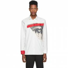 Neil Barrett Off-White Modernist Print Shirt BCM1271S M035S