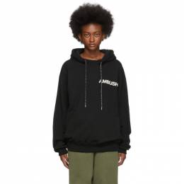 Ambush SSENSE Exclusive Black Logo Hoodie 192820F09700103GB