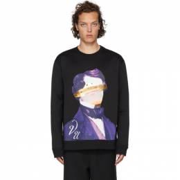 Valentino Black Undercover Edition V Face UFO Print Sweatshirt SV0MF06Z5PD