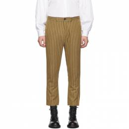 Ann Demeulemeester Tan Cotton Rini Trousers 1902-3416-177-029