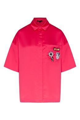 Коралловая блузка с отделкой на кармане Maje 888153590