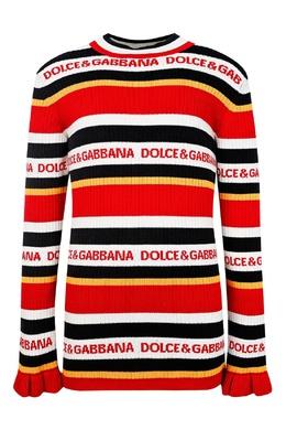 Трикотажный свитер в полоску Dolce&Gabbana Children 1207153186