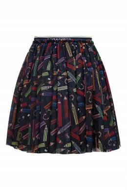 Пышная мини-юбка с принтом Dolce&Gabbana Children 1207153118