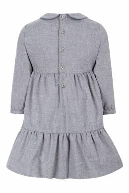 Серое платье с аппликациями Il Gufo 1205153422