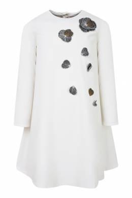 Белое платье с аппликациями Il Gufo 1205153456