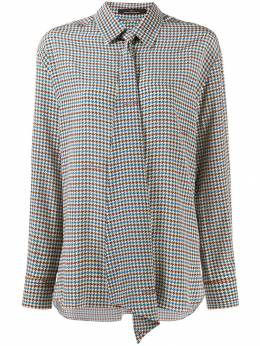 Rokh houndstooth pussy-bow blouse ROCA77S