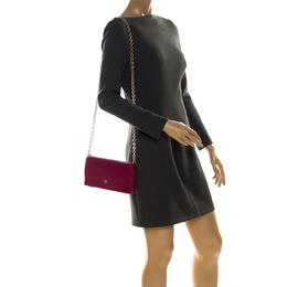 Carolina Herrera Hot Pink Leather Flap Crossbody Bag 227066