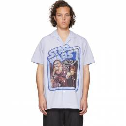 Etro Blue and White Star Wars Edition Poster Shirt 1K265 7127