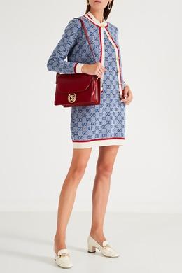 Синее платье с монограммами Gucci 470154524