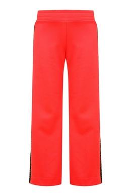 Коралловые брюки с лампасами Fendi Kids 690153206